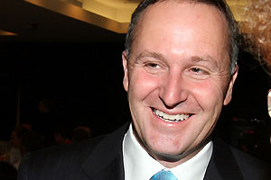 John Key tries The Nation's Chip
