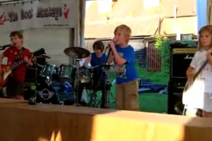 8 year old kids playing Metallica