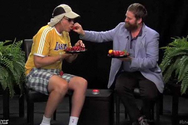Zach Galifianakis interviews Will Ferrell