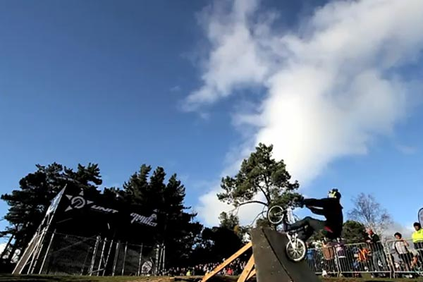 World First BMX Triple Backflip