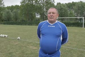75 year old soccer star sets record