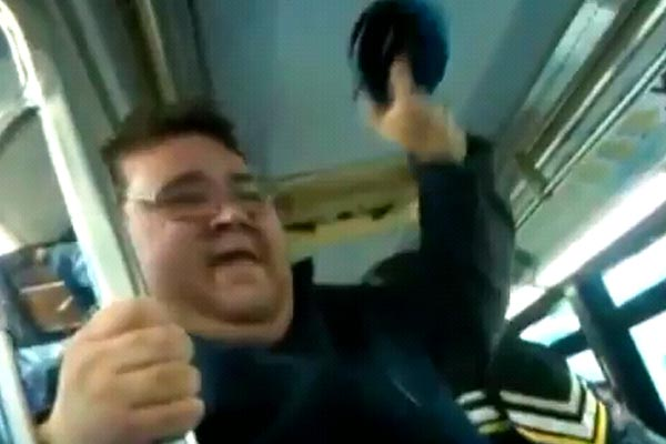 Fat dude sings Katy Perry loudly on the bus
