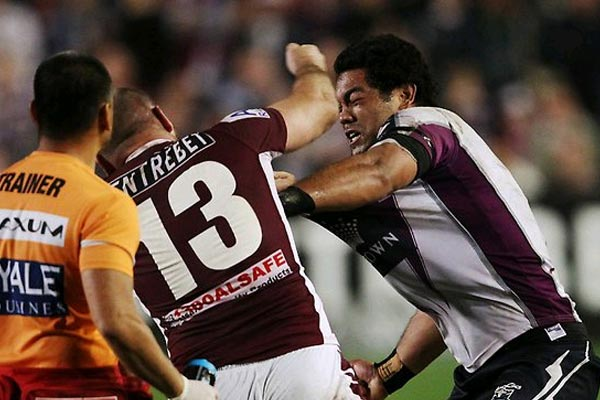 Manly Sea Eagles and Melbourne Storm fight