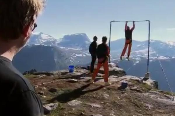 Base jumper experiences worst-case scenario