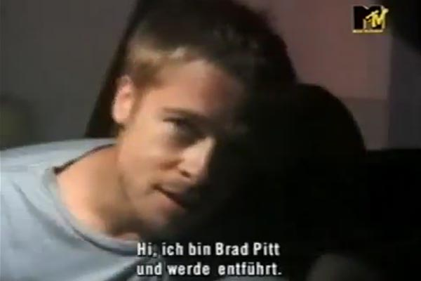 Brad Pitt gets abducted on Jackass