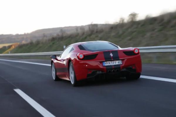 Taking a Ferrari for a burn on the Autobahn