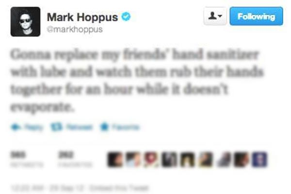 Mark Hoppus lube prank