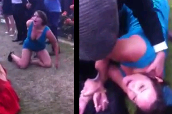 Girl gets trashed at the Melbourne Cup