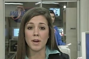Girl caught on camera during live news report