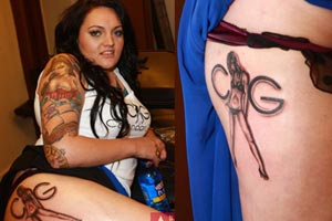 The &quot;Tattoo My Arse&quot; chick from TradeMe gets inked