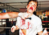 Justin Bieber Being Beaten To A Bloody Pulp