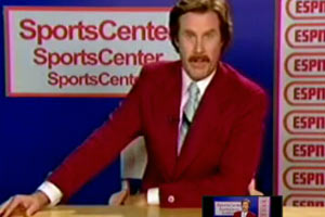 Ron Burgundy auditions for ESPN
