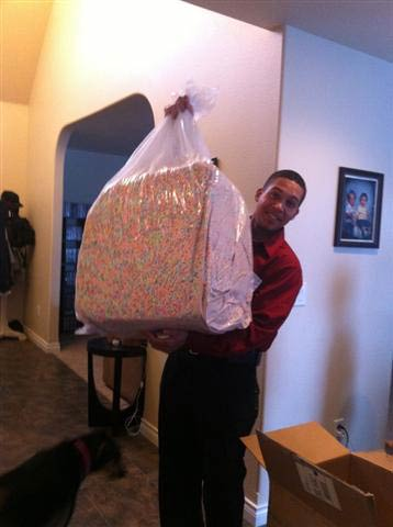 Whoever managed to get this giant bag of Lucky Charms marshmallows
