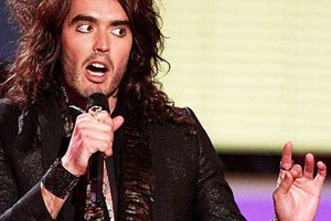 Russell Brand takes on a heckler