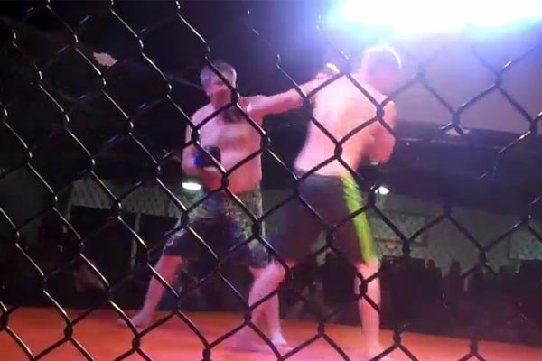 53 year old man wins MMA fight with no practice