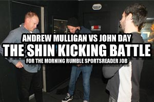Shin Kicking - Andrew Mulligan vs John Day