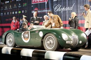 Jaguar C-Type at 2012 Mille Miglia and Monaco Historique