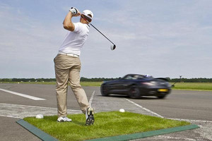 Catching a golf ball in a Mercedes at 178mph