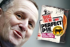 "Happy National Pie Day from the ""Pie"" Minister John Key"