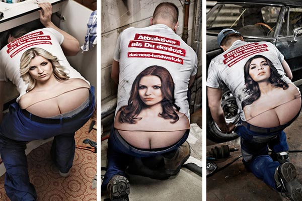 Ass Crack Cleavage T-Shirt