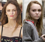 Vanessa Paradis and her daughter Lily