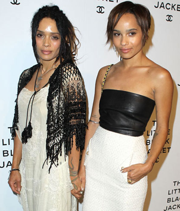 Lisa Bonet and her daughter Zoe Kravitz (Lenny Kravitz's daughter)
