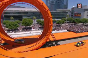 Hot Wheels double loop at X Games