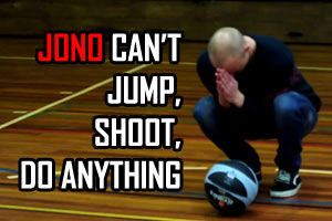 Jono's halfcourt basketball shot FAIL