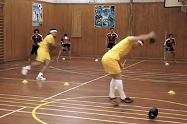 Dodgeball with Ma'a Nonu, Tamati Ellison and Zac Guildford 