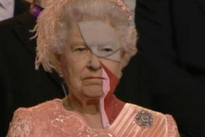 Queen of England Gotye meme