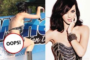 Katy Perry flashes bum after bikini slip