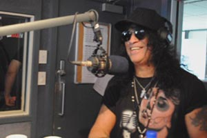 Slash visits The Rock