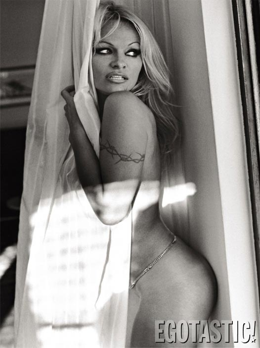 Pamela Anderson Topless Shoot in Lovecat Magazine