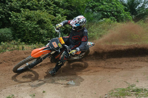James Robinson biking it up in Malaysia