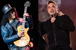 Slashclears up Robbie Williams song reports