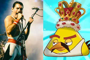 Freddie Mercury becomes an Angry Bird