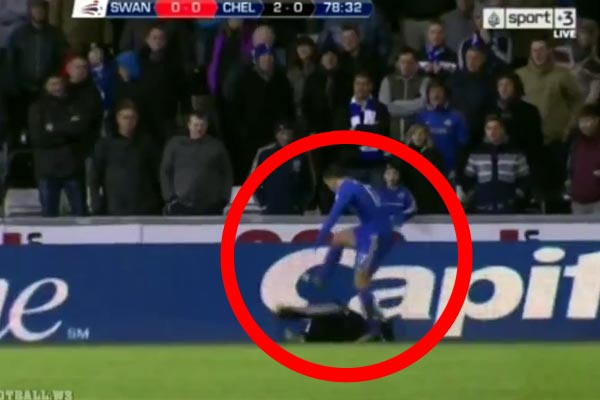 Eden Hazard sent off for kicking ball-boy in the ribs