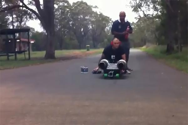 Jet powered street luge
