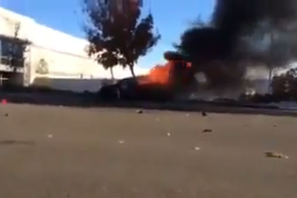 Paul Walker crashed car footage - Pretty grim footage from the scene of the Fast and Furious star's shock death. RIP bro.