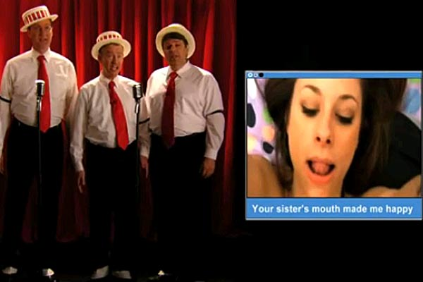 Barbershop Quartet sing about porn