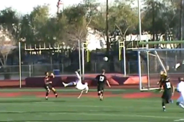 One epic bicycle kick