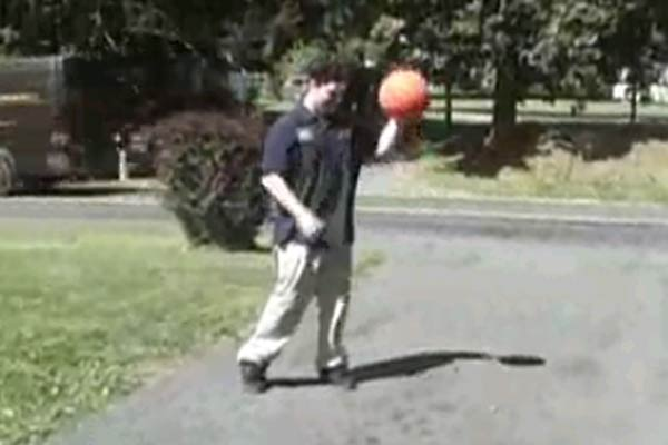 Basketball explodes