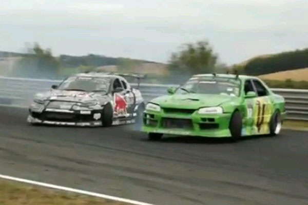 Drifting at Hampton Downs