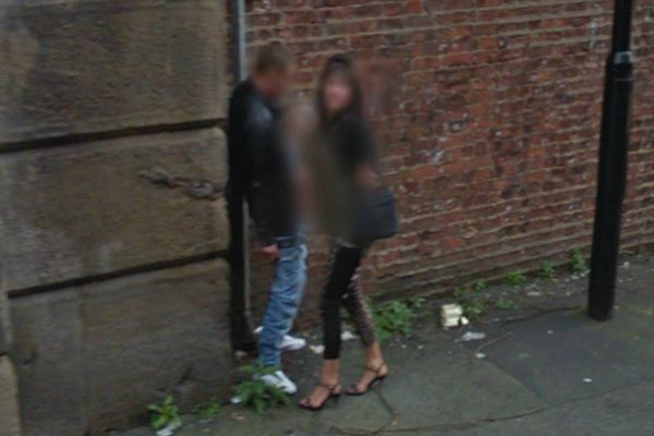 Google Street View snaps a public handjob