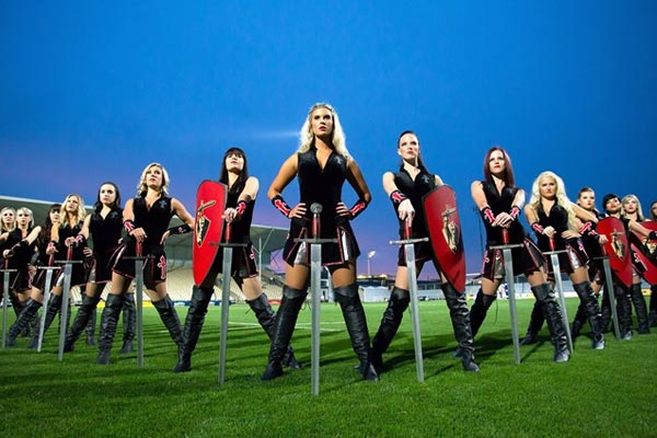 The Crusaders' Super Rugby cheerleaders