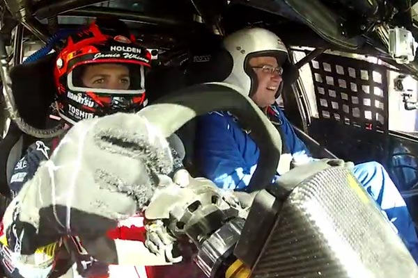 Jamie Whincup takes Auckland Mayor for a spin