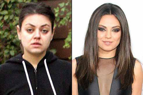 Female celebs without makeup
