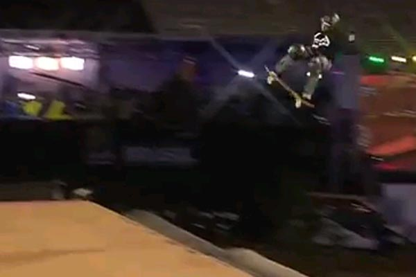 Jake Brown's epic ollie