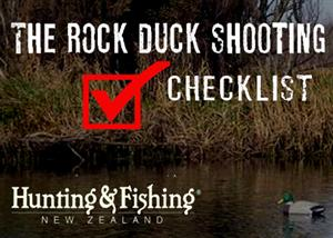 Hunting and Fishing - Duck Shooters Checklist