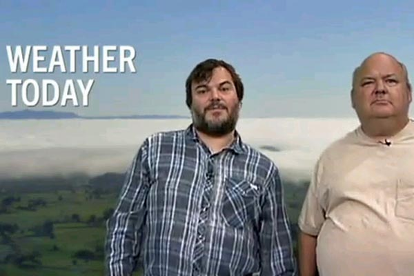 Jack Black reads the NZ weather